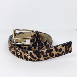 Talbots Animal Print Calf Hair Belt L
